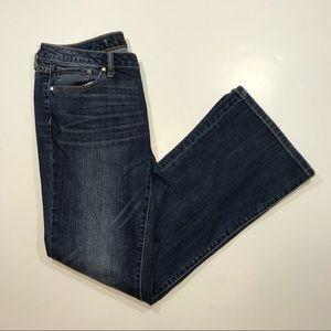 Jennifer Lopez Bootcut Blue Jeans, Size 8